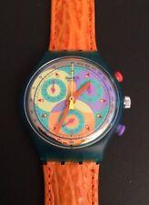 SWATCH Chronograph Date SCL 102 SOUND 1993 Originals Leder Leather Neu New!