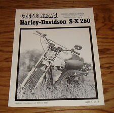 1975 Harley-Davidson SX-250 Cycle News Sales Brochure 75