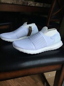 Adidas Ultra boost Laceless Triple White