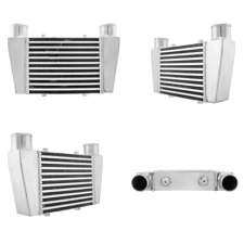 """CXRacing Universal Front V-Mount Intercooler 15.25""""x9.5""""x3"""" 2.5"""" Inlet Outlet"""