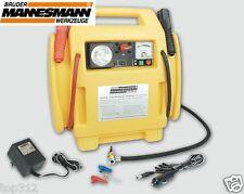 Mobile Energiestation Starthilfe 12 Volt Kompressor tragbar Strom Leuchte 7Ah