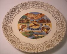 """Scenic South Dakota"" Souvenir Plate - Mount Rushmore & Other Scenes - Vtg (P7)"