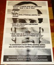 HEAD orig 1968 1sheet for MONKEES movie. Style C poster. Mear-Mint cond.