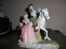 Vintage Nostalgia Ceramic biscuit Porcelain Figurine German French Dresden