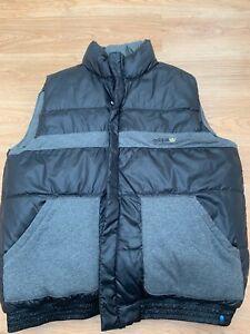 Adidas Originals Reversible Gilet Bodywarmer Top in Black and Grey 2XL Mens XXL