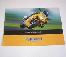 Prospekt / Broschüre Triumph Daytona, TT 600, Speed, Sprint RS - Stand 2001!