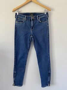 Womens Cropped Skinny Jeans Size 10 Blue Lee <Z3338