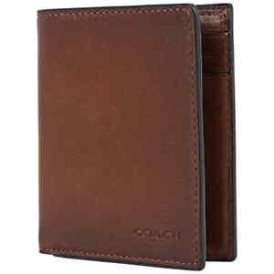 Coach Dark Brown Men's Slim Coin Wallet 59671 CWH