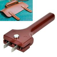 1Pc Durable Adjustable Leather Hole Positioning Punch Magnetic Buckle Craft Tool