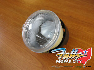 2004 - 2011 Chrysler Dodge Jeep Lower Head Lamp Assembly and Bulb NEW MOPAR OEM