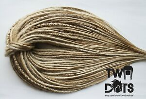 Blonde Mix Synthetic Dreads, DE, SE Dreads & Mix, 20 Inches,