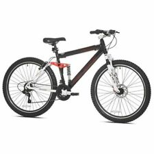 "Men's Mountain Bike, Black Genesis 27.5"" V2100 21 Speed Full Suspension Shimano"