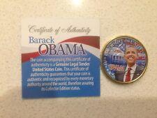 Barack Obama *44th President* HAWAII GOLD Coloured State Quarter