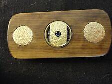 Fidget Spinner - Brass and African Olive Wood, Ceramic Bearing - Handmade - EDC