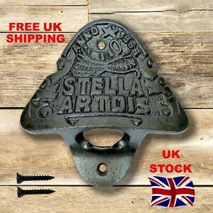 Stella Artois Bottle Opener Antique Style Cast Iron Wall Mountable - New Shape