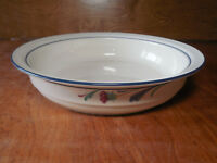 "Lenox Chinastone POPPIES ON BLUE 9"" Vegetable Serving Bowl Shallow   1 available"