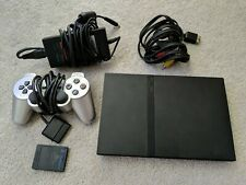 Sony PlayStation 2 Slim Charcoal Black Console (PAL - SCPH-70003)