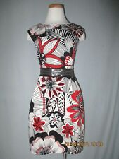 Dolce & Gabbana Floral Print Cotton Dress with Belt Size 38 / 2 Excellent!