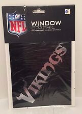 **NEW* Minnesota Vikings Chrome Window Graphic Silver Sticker Decal Car Auto NFL
