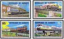 Timbres Trains Djibouti 491/4 ** lot 24792