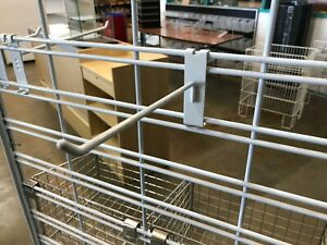 100 x Slat Grid Hooks- White 100mm- 6mm Diameter 0.75c each