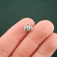 12 Bail Beads Antique Silver Tone Tribal Design - SC5729