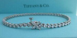 TIFFANY & CO. VICTORIA 3.08TCW DIAMOND PLATINUM PT950 LINE BRACELET