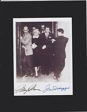 Marilyn Monroe Joe DiMaggio Signed 8X10 Photo Display Reprint Autographed
