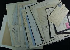 Ecrivain Pierre LIEVRE, importante correspondance de 58 autographes