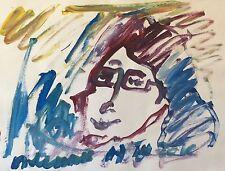 ART Brut  signature illisible ? Gouache 64,5 cm x 50 cm       d