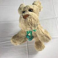 "Nat & Jules Plush Dog 9.5"" Stuffed Hearts Collar Ribbon Beans Cuddly Demdaco Toy"
