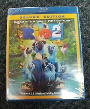 RIO 2 DELUXE EDITION BLU-RAY DISC & DVD BRAND NEW in SEALED PACKAGE
