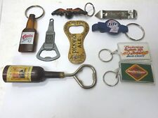 Vintage, old, new Bottle Can Openers & Key Chains Advertising Beer, see pics