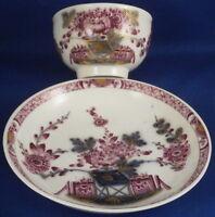 Antique 18thC Meissen Porcelain Tischchenmuster Cup & Saucer Porzellan Tasse #2