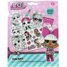 LOL Surprise fun bagh - contiene 1 foglio sticker 4 pastelli 12 fog.da colorare