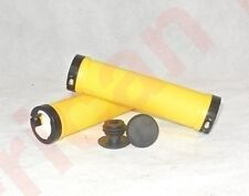 Yellow Black Lock On BMX MTB Grips Bike Bicycle Mountain Scooter Cycle Alloy LO1