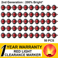 "50 x Red LED Truck Trailer Caravan Lorry ATV 3/4"" Bullet Side Marker Tail Lights"