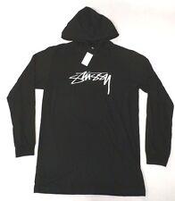 Stussy Men's Stussy Logo Stock Hoodie Black CB4 Size Large NWT