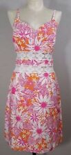 VTG Lilly Pulitzer Dress SZ 4 Floral Lace Midriff White Label RARE Resort Cruise