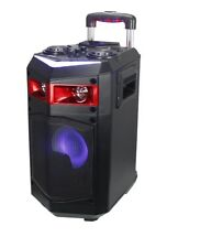 ALTAVOZ PORTATIL TROLLEY CON RUEDAS BLUETOOTH LED USB KARAOKE MICROFONO 60W