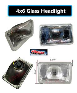 "FOUR(x4) 4x6"" H4 Glass Headlights Conversion Halogen Semi Sealed Kit HID & LED"