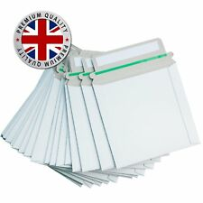 100 Cardboard CD DVD mailers white postal envelopes PEEL and SEAL strong seal