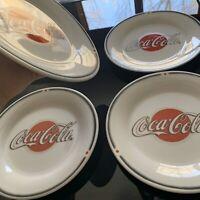 Vintage 2002 COCA COLA Set Of 4 Stoneware Collectable Plates Coke