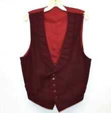 "Reenactment Victorian Edwardian 1800s Wool Waistcoat Vest 44"""