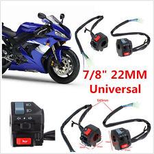 "2 X DC12V Motorcycle 7/8"" Handlebar Horn Turn Signal Light Electrical Switch Kit"