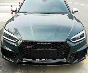 For AUDI A5 S5 B9 2017-2019 RS5 style front black bumper Honeycomb Mesh Grill