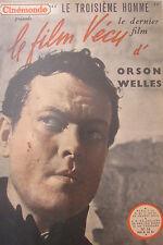 CINEMA REVUE CINEMONDE FILM VECU de 1950 ORSON WELLES LE TROISIEME HOMME