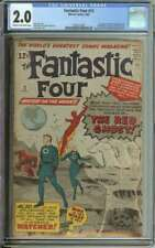FANTASTIC FOUR #13 CGC 2.0 CR/OW PAGES // 1ST APPEARANCE RED GHOST+ WATCHER 1963
