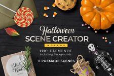 Halloween Scene Creator: 8 Pre-made Scenes with 100+ Elements