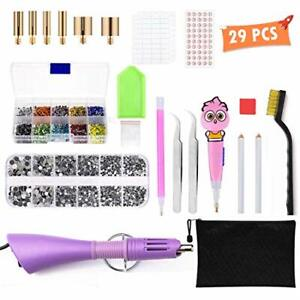 Bedazzler Kit with Rhinestones, Hotfix Applicator, Hot Fix Rhinestone Setter Gem